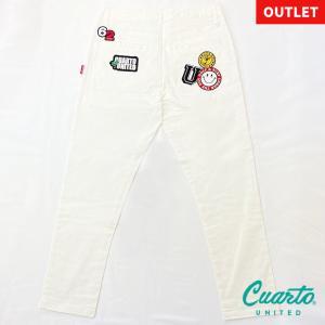 定価¥10,780 クアルトユナイテッド ワッペン刺繍ロングパンツ|cuartounited