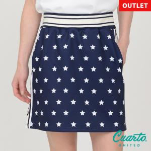 ゴルフ スカート 20SS クアルトユナイテッド 星 柄 サイド ロゴ|cuartounited