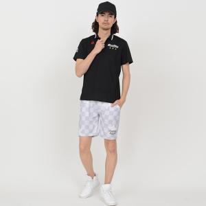 ゴルフ ハーフ パンツ 20SS クアルトユナイテッド チェッカー フラッグ 星 柄 メンズ|cuartounited|20