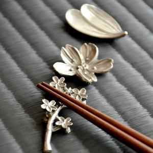 錫 (すず) 箸置き 日本製 ゆうパケットOK 藍花 (Aika) マツコの知らない世界 クッチーナ