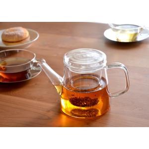 ティーポット ガラス ティーポット LAVIA ラヴィア ガラスポット ポット 耐熱ガラス ガラス製 急須 おしゃれ かわいい 紅茶 お茶 500cc ギフト クッチーナ cucina-y