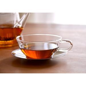 カップ&ソーサー ラウンド ステン LAVIA ラヴィア クッチーナ ティーカップ 耐熱ガラス ガラス 北欧 紅茶 アデリアガラス おしゃれ かわいい プレゼント cucina-y