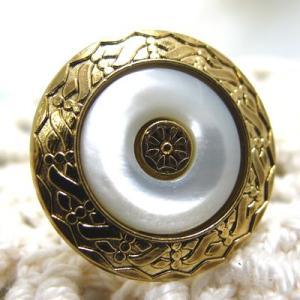 金縁ゴージャス ボタン 1 (1274)CPB-026 20mm|cufflink