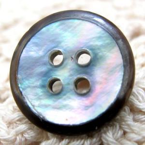 (10個入り)レインボーの輝きがきれいな夜光貝を使用したシンプル ボタン (1138) 15mm|cufflink