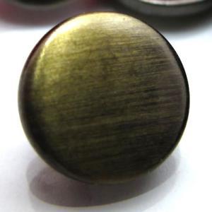 (訳あり)『200個入り』ヘアライン加工されたシンプルな丸型の 金属 ボタン (5600) CPB-082 10mm|cufflink