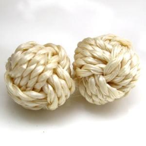 (訳あり)『10個入り』繊維を編んで チャイナボタン の様に二つ繋げた ボタン (RV-18J) CPB-083 20mm|cufflink