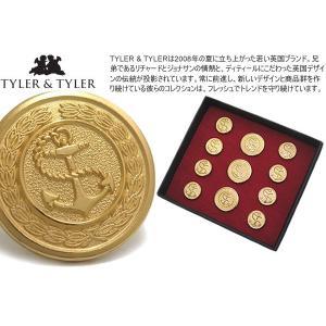 TYLER & TYLER タイラー&タイラー ボタンセット シングルブレスト アンカー (ジャケット ブレザー) ブランド|cufflink