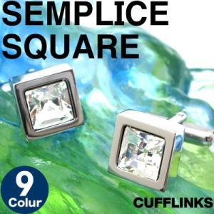 スワロフスキー センプリチェスクウェアカフス (カフスボタン カフリンクス)|cufflink