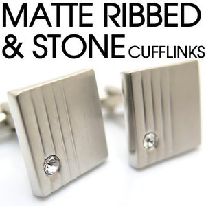 マットリブ&ストーンカフス (カフスボタン カフリンクス) Value 3500|cufflink