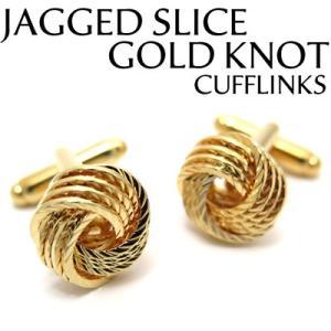 ジャグスライスゴールドノットカフス (カフスボタン カフリンクス) Value 3500|cufflink