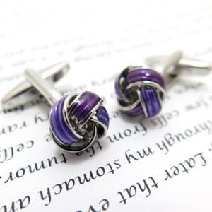 若紫結カフス (カフスボタン カフリンクス) Simple 2500|cufflink