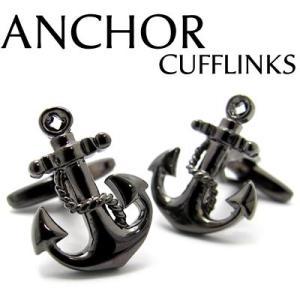 【週末セール】 アンカーカフス(ブラック) (カフスボタン カフリンクス) Value 3500 【30%OFF】|cufflink