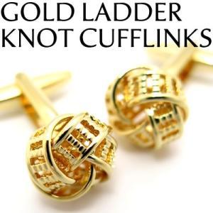 ゴールドラダーノットカフス (カフスボタン カフリンクス) Value 3500|cufflink