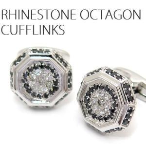 ラインストーンオクタゴンカフス (カフスボタン カフリンクス) Lumie 8500 cufflink
