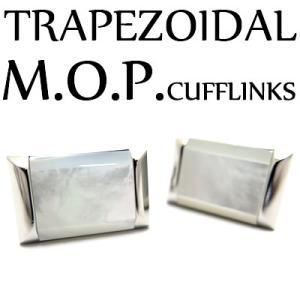トラペゾイダル白蝶貝カフス (カフスボタン カフリンクス) Value 3500|cufflink