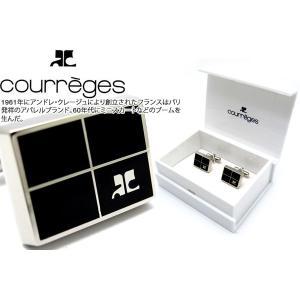 courreges クレージュ ブラックパーティションカフス (カフスボタン カフリンクス)|cufflink