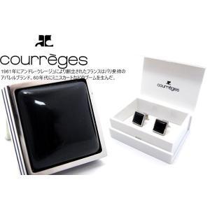courreges クレージュ ブルーグラススクウェアカフス (カフスボタン カフリンクス)|cufflink