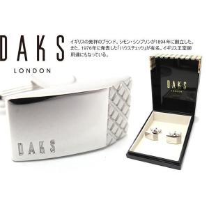 DAKS ダックス サイドチェックカフス (カフスボタン カフリンクス)|cufflink