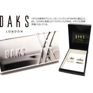 DAKS ダックス クロスラインズカフス (カフスボタン カフリンクス)|cufflink