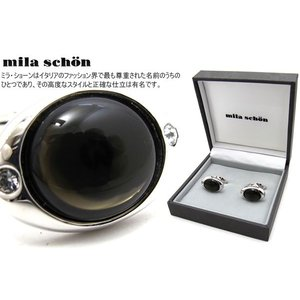 mila schon ミラ・ショーン 半球形エポキシカフス (ミラショーン カフリンクス カフスボタン)|cufflink