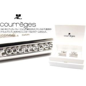 courreges クレージュ カーヴロゴカフス (カフスボタン カフリンクス) cufflink