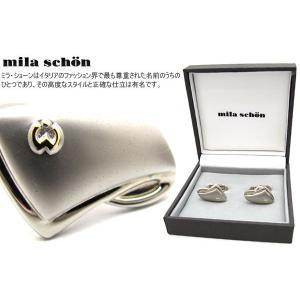 mila schon ミラ・ショーン 変形三角形マットカフス (ミラショーン カフリンクス カフスボタン)|cufflink