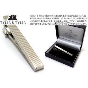 TYLER & TYLER タイラー&タイラー カプセルピンストライプタイクリップ(プレーン) (タイピン タイバー) ブランド|cufflink