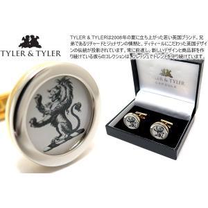 TYLER & TYLER タイラー&タイラー カプセルツートンヘラルディックライオンカフス ブランド|cufflink