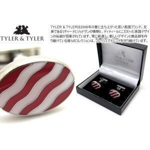 TYLER & TYLER タイラー&タイラー カプセルボールドウェーブカフス(レッド/ホワイト) ブランド|cufflink