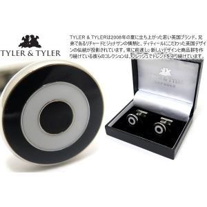 TYLER & TYLER タイラー&タイラー カプセルボールドブルズアイカフス(ブラック/ホワイト) ブランド|cufflink