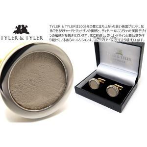 TYLER & TYLER タイラー&タイラー カプセルツートンハイドカフス(ベージュ) ブランド|cufflink