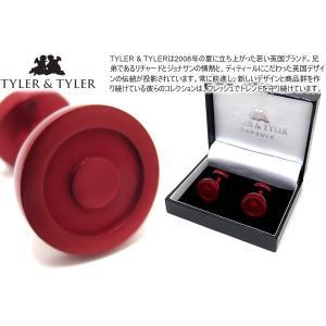 TYLER & TYLER タイラー&タイラー カプセルアイコンズカフス(ボールトンレッド) ブランド|cufflink