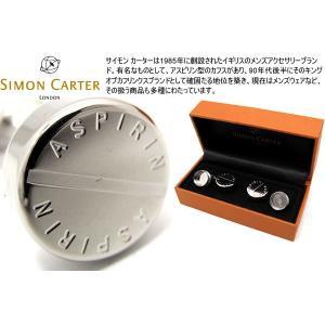 SIMON CARTER サイモン・カーター アスピリンカフス (カフスボタン カフリンクス)|cufflink