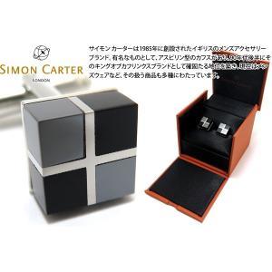SIMON CARTER サイモン・カーター ルービックスカフス(オニキス&ヘマタイト) (カフスボタン カフリンクス)|cufflink