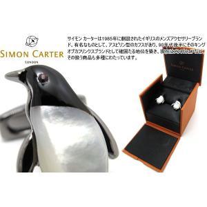 SIMON CARTER サイモン・カーター ダーウィンペンギンカフス(白蝶貝) (カフスボタン カフリンクス)|cufflink