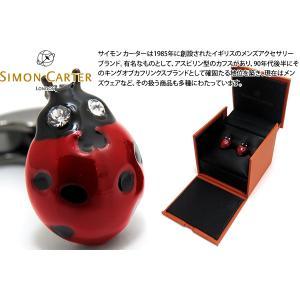 SIMON CARTER サイモン・カーター イングリッシュカントリーガーデンカフス(てんとう虫) (カフスボタン カフリンクス)|cufflink