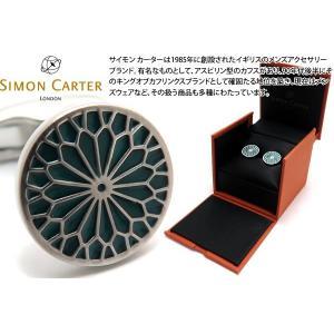 SIMON CARTER サイモン・カーター ステンドグラスエナメルカフス(フラワーティール) (カフスボタン カフリンクス)|cufflink