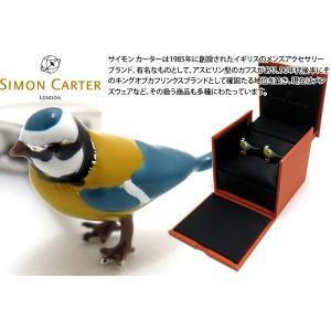 SIMON CARTER サイモン・カーター イングリッシュカントリーガーデンカフス(アオガラ) (カフスボタン カフリンクス)|cufflink