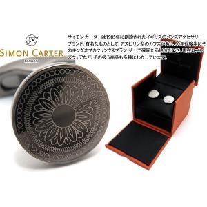 SIMON CARTER サイモン・カーター レーザーエングレイヴドカフス(ガンメタル) (カフスボタン カフリンクス)|cufflink