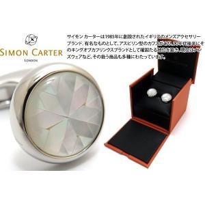 SIMON CARTER サイモン・カーター カレイドスコープカフス(白蝶貝) (カフスボタン カフリンクス)|cufflink