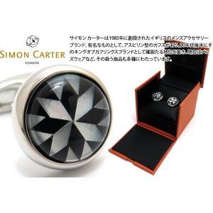 SIMON CARTER サイモン・カーター カレイドスコープカフス(オニキス&白蝶貝) (カフスボタン カフリンクス)|cufflink