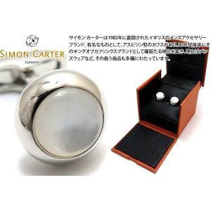 SIMON CARTER サイモン・カーター ギャツビーカフス(白蝶貝) (カフスボタン カフリンクス)|cufflink