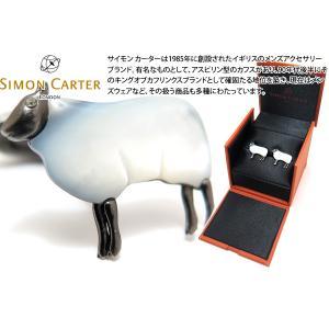 SIMON CARTER サイモン・カーター ダーウィン 羊カフス(白蝶貝・アンティーク) (カフスボタン カフリンクス) cufflink