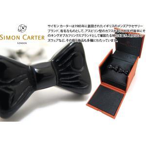 SIMON CARTER サイモン・カーター 蝶ネクタイカフス(オニキス) (カフスボタン カフリンクス) cufflink