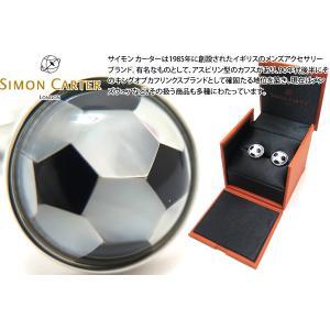 SIMON CARTER サイモン・カーター サッカーボールカフス(オニキス&白蝶貝) (カフスボタン カフリンクス) cufflink