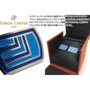 SIMON CARTER サイモン・カーター デコロゼンジ カフス(ブルー) (カフスボタン カフリンクス)|cufflink