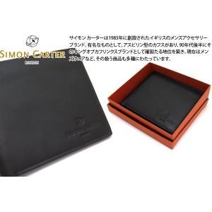 SIMON CARTER サイモン・カーター スリムウォレット(ブラウン) (折り畳み財布)|cufflink