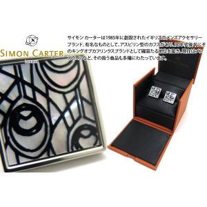 SIMON CARTER サイモン・カーター ピーコックフェザーカフス(白蝶貝) (カフスボタン カフリンクス)|cufflink