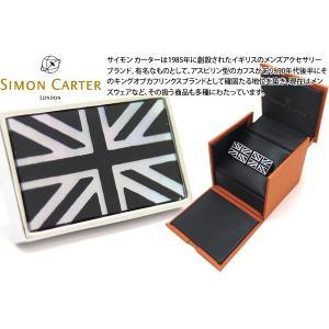 SIMON CARTER サイモン・カーター ユニオンジャックカフス(オニキス・白蝶貝) (カフスボタン カフリンクス)|cufflink
