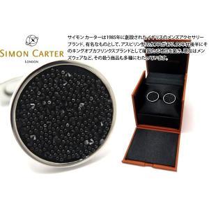 SIMON CARTER サイモン・カーター クリスタルファブリックカフス(ブラック) (カフスボタン カフリンクス)|cufflink